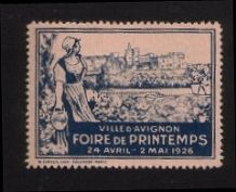 Cinderellas POSTER STAMP 1926 Spring fair France  #021